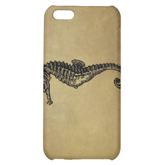 Vintage Seahorse Illustration iPhone 5C Cases