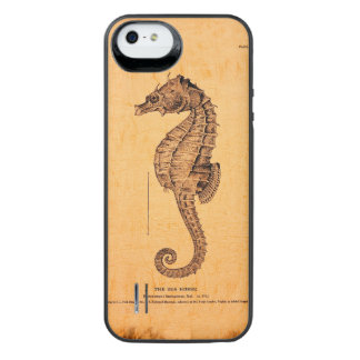 Vintage Seahorse Illustration iPhone SE/5/5s Battery Case