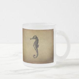 Vintage Seahorse Illustration Coffee Mugs