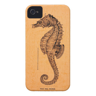 Vintage Seahorse Illustration on Apple® iPhone 4 iPhone 4 Cover