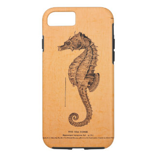 Vintage Seahorse Illustration on iPhone 7 case