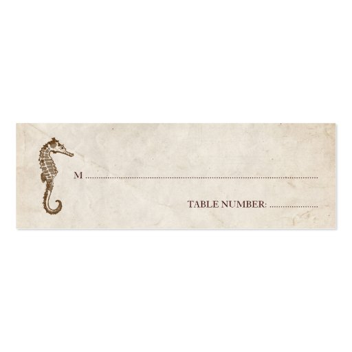 Vintage Seahorse Seating Card Business Card Templates