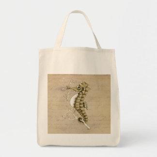 Vintage Seahorse Tote Bag