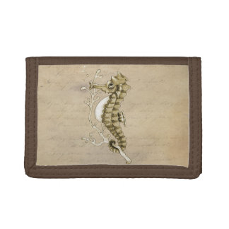 Vintage Seahorse Trifold Wallet