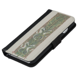Vintage Seahorses Marine Animals, Art Nouveau iPhone 6 Wallet Case