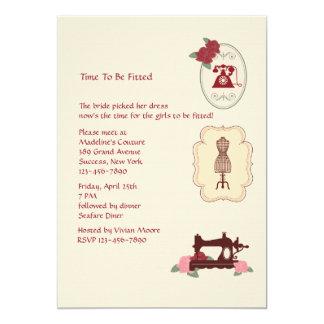 "Vintage Seamstress Invitation 5"" X 7"" Invitation Card"