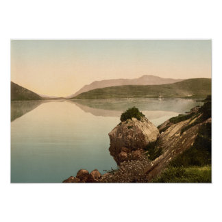 Vintage Seascape Galway Ireland Poster