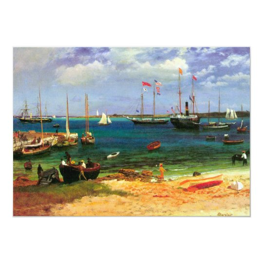 Vintage Seascape, Nassau Harbor by Bierstadt Card