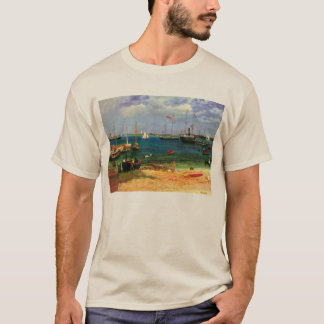 Vintage Seascape, Nassau Harbor by Bierstadt T-Shirt