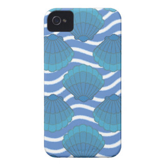 Vintage Seashell And Waves Pattern iPhone 4 Case