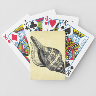 Vintage Seashell on Cream Bicycle Playing Cards
