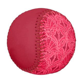 Vintage Seashell Red Baseball