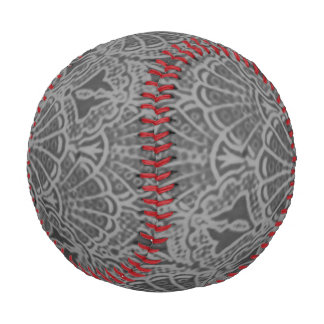 Vintage Seashells Charcoal Gray Shells Baseball