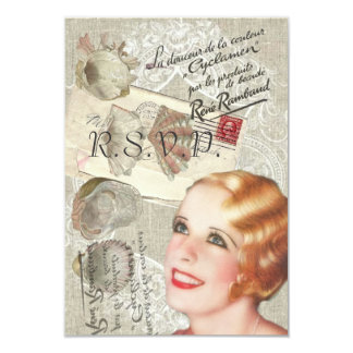 vintage seashells gatsby bridal shower card