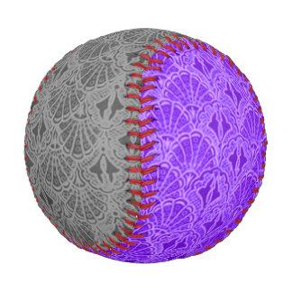Vintage Seashells Gray and Purple Baseball
