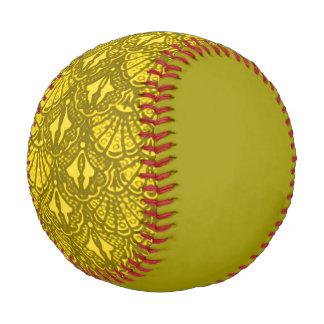 Vintage Seashells Grunge Yellow Green Baseball