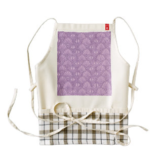 Vintage Seashells Lavender Purple Zazzle HEART Apron