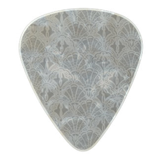Vintage Seashells Pewter Gray Pearl Celluloid Guitar Pick