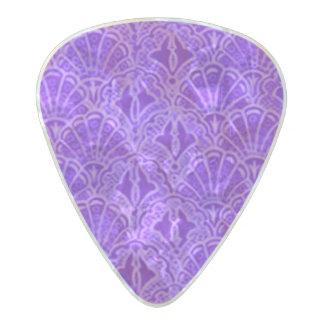 Vintage Seashells Purple Pearl Celluloid Guitar Pick