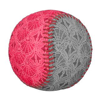 Vintage Seashells Red and Gray Baseball