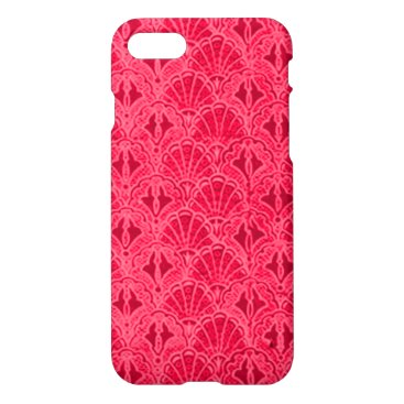 Beach Themed Vintage Seashells Red iPhone 7 Case