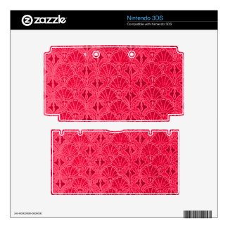 Vintage Seashells Red 3DS Decal