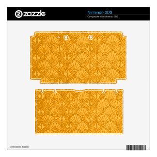 Vintage Seashells Yellow Gold Mango Nintendo 3DS Decals