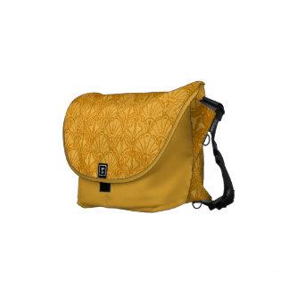 Vintage Seashells Yellow Gold Mango Small Messenger Bag