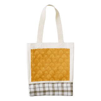 Vintage Seashells Yellow Gold Mango Zazzle HEART Tote Bag