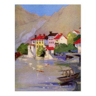 Vintage Seaside Village Italy Tourism Postcard