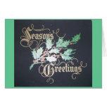 Vintage Season's Greetings Greeting Cards