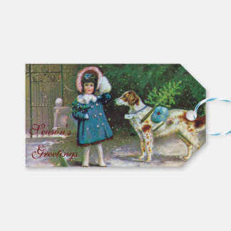 Vintage Season's Greetings Holiday Gift Tags