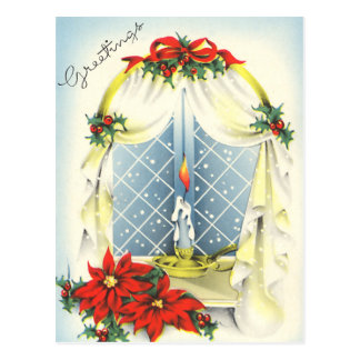 Vintage Season's Greetings Postcard