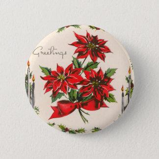 Vintage Season's Greetings Round Button