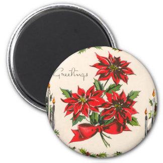 Vintage Season's Greetings Round Magnet