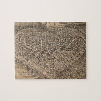 Vintage Seattle Heart Map (1905) Jigsaw Puzzles