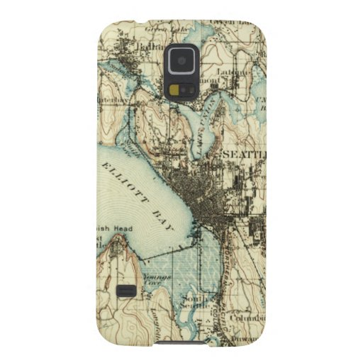 Vintage Seattle Map Cases For Galaxy S5
