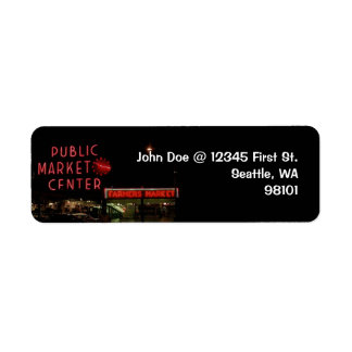 Vintage Seattle Public Market Return Address Label