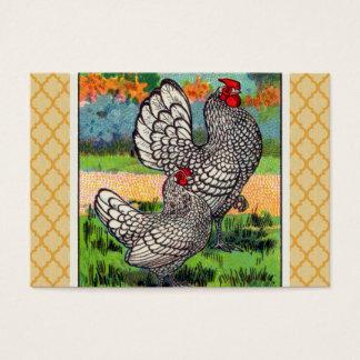 Vintage Sebright Bantam Chicken Business Card