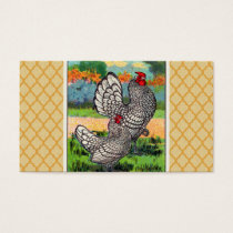 Vintage Sebright Bantam Chicken Business Card