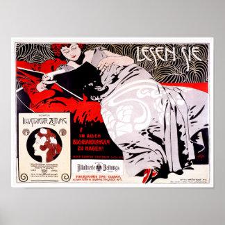 Vintage Secession Austrian Poster Kolo Moser