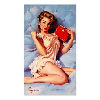 Vintage Secret Diary Gil Elvgren Pin Up Girl Double-Sided Standard Business Cards (Pack Of 100)