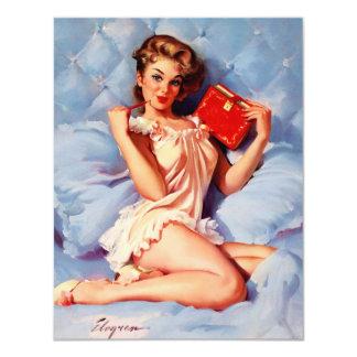 Vintage Secret Diary Gil Elvgren Pin Up Girl Card