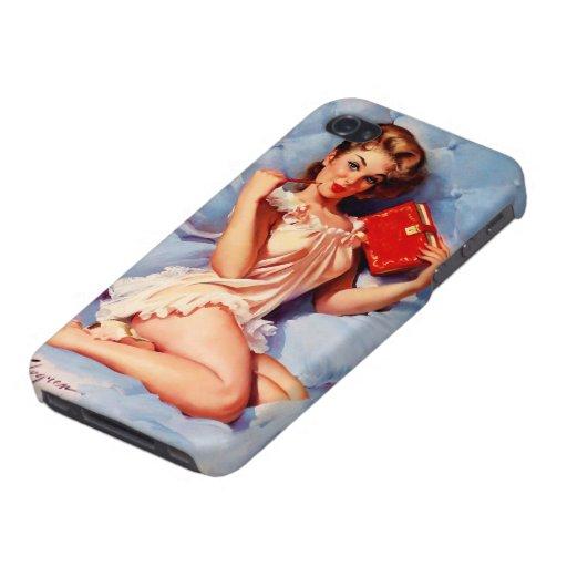 Vintage Secret Diary Gil Elvgren Pin Up Girl iPhone 4 Cases
