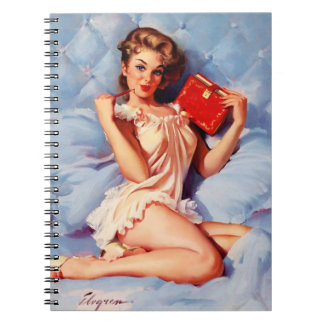 Vintage Secret Diary Gil Elvgren Pin Up Girl Notebook