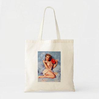 Vintage Secret Diary Gil Elvgren Pin Up Girl Tote Bag