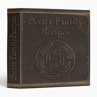 Vintage Secret Family Recipes 3 Ring Binder