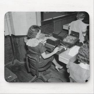 Vintage Secretaries & Typewriters Mouse Pad