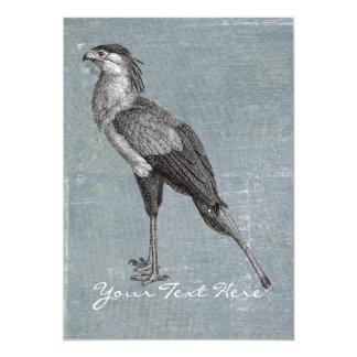 Vintage Secretary Bird 5x7 Paper Invitation Card