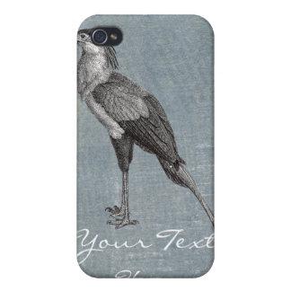 Vintage Secretary Bird Cover For iPhone 4